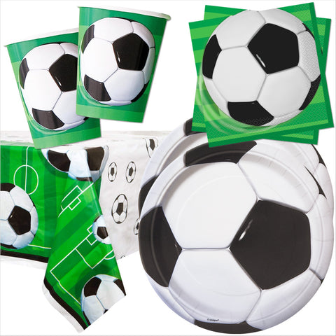 Football Party Tableware Bundle - 8 Guests - Unique Party - Party Touches