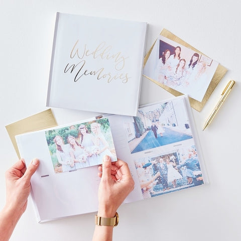 Wedding Gold Foil Photo Album - Ginger Ray - Party Touches