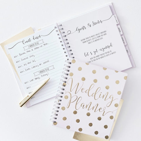Luxury Gold Foiled Wedding Planner - Ginger Ray - Party Touches