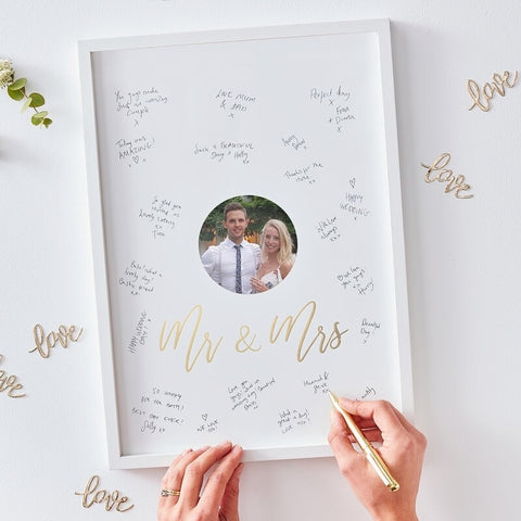 Mr & Mrs Alternative Guest Book Frame - Ginger Ray - Party Touches