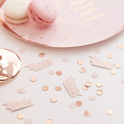 Team Bride Blush and Rose Gold Hen Party Confetti - Ginger Ray - Party Touches