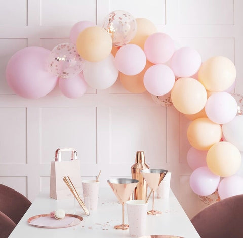 Matte Peach and Pink Hen Party Balloon Arch Garland - Ginger Ray - Party Touches