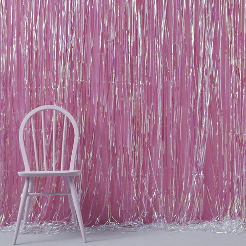 Iridescent Foil Fringe Curtain Decoration - Ginger Ray - Party Touches