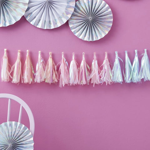 Iridescent Tassel Garland - Ginger Ray - Party Touches
