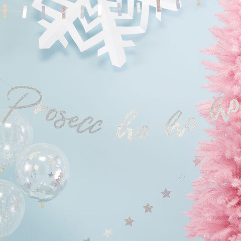 Iridescent Prosecco Ho Ho Bunting - Ginger Ray - Party Touches