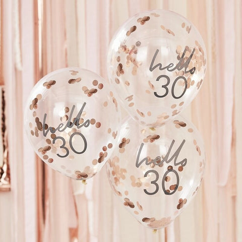 Hello 30 Birthday Balloons - Ginger Ray - Party Touches