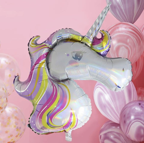 Iridescent Foiled Unicorn Balloon - Ginger Ray - Party Touches