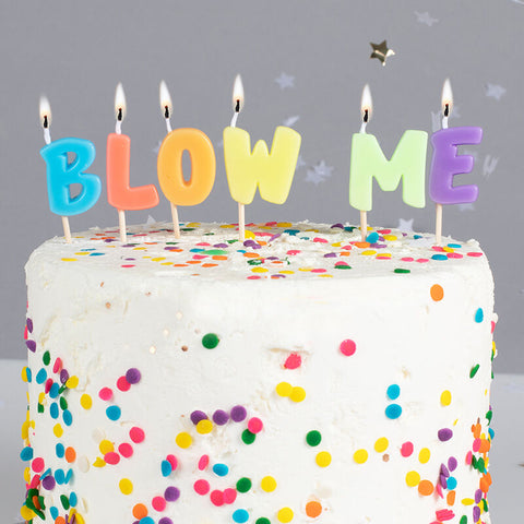 Blow Me Birthday Party Candle