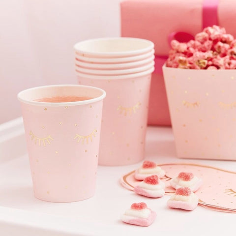 Pink Pamper Party Paper Cups - Ginger Ray - Party Touches