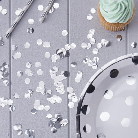 Metallic Silver Table Confetti - Ginger Ray - Party Touches