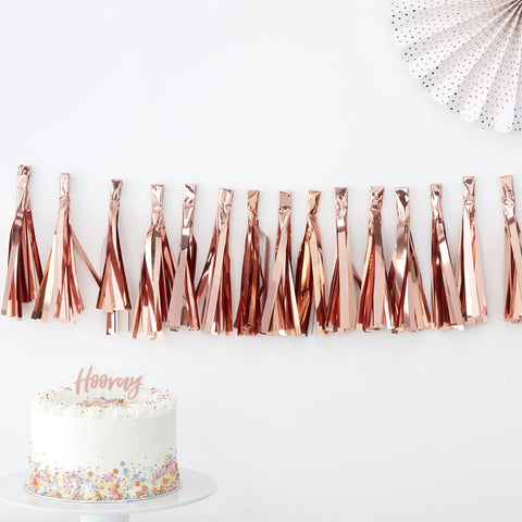 Rose Gold Tassel Garland - Ginger Ray - Party Touches