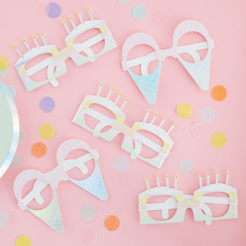 Iridescent Birthday Fun Glasses - Ginger Ray - Party Touches