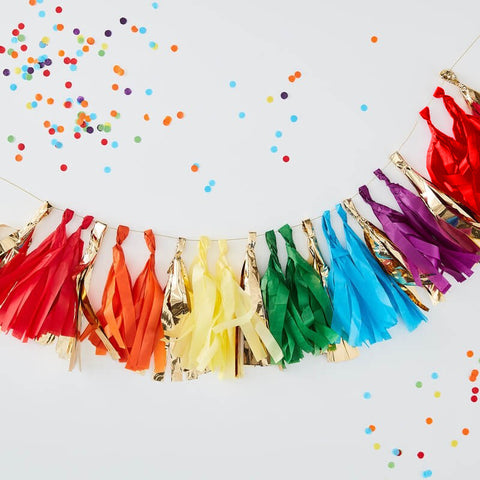 Multicoloured Tassel Garland - Ginger Ray - Party Touches
