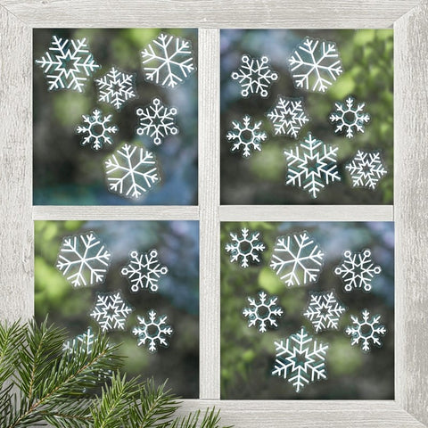 Snowflake Window Stickers - Ginger Ray - Party Touches