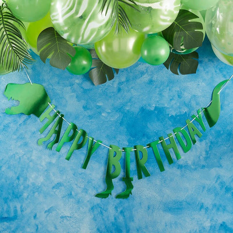 Dinosaur Happy Birthday Party Bunting - Ginger Ray - Party Touches
