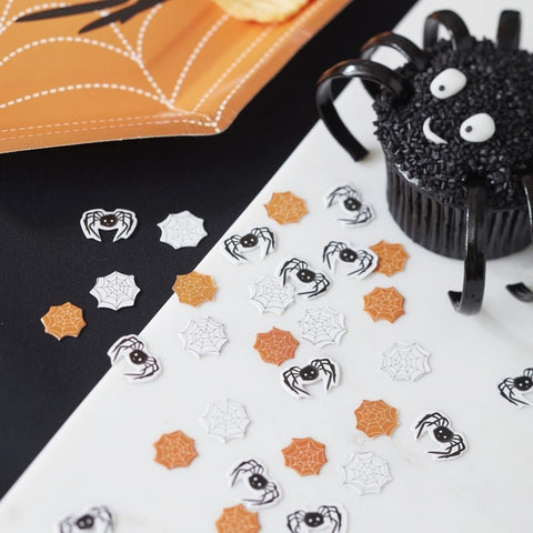Spooky Halloween Spider and Web Confetti - Ginger Ray - Party Touches