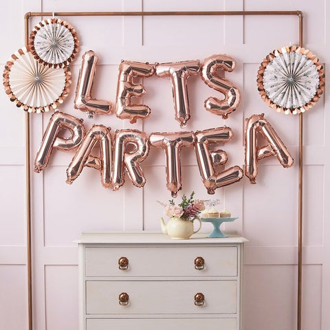 Lets Partea Afternoon Tea Party Balloon Bunting - Ginger Ray - Party Touches