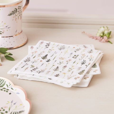 Afternoon Tea Floral Napkins - Ginger Ray - Party Touches