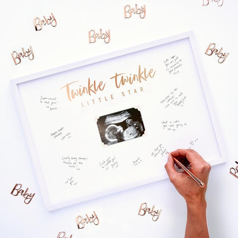 Baby Shower Signing Frame Guest Book - Ginger Ray - Party Touches