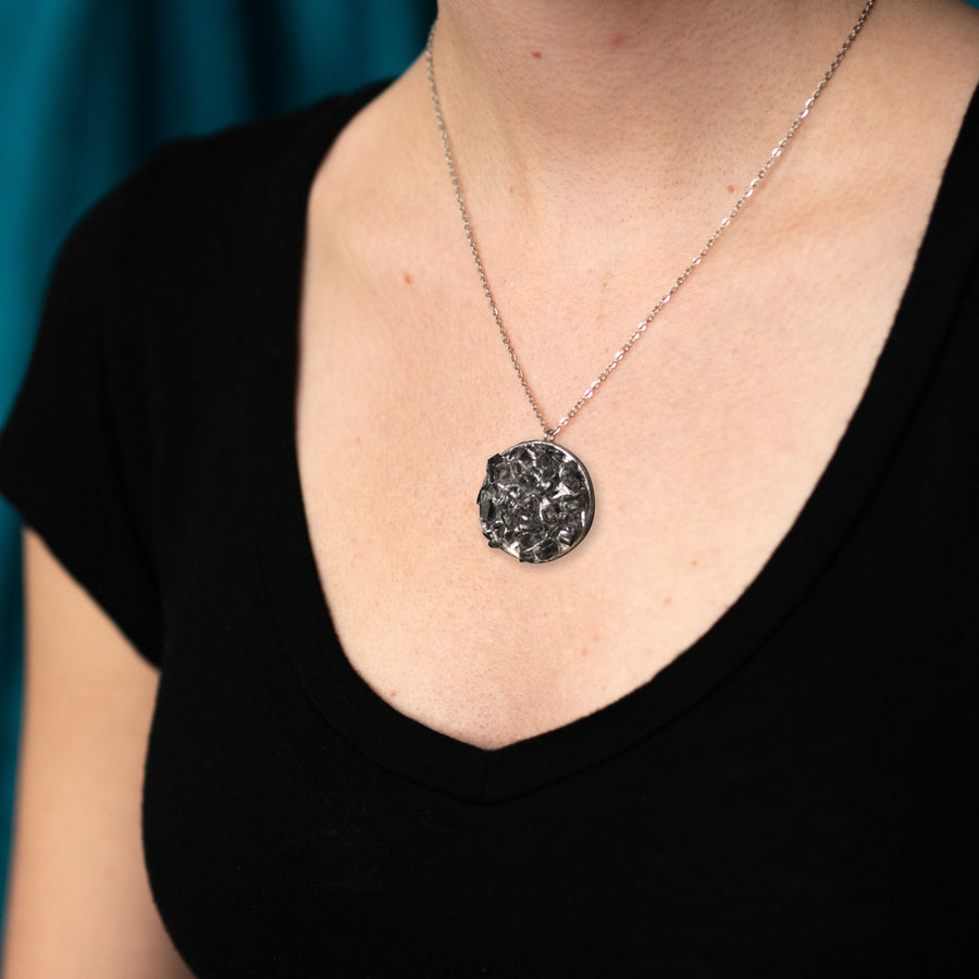 Cluster Necklace - Large Black