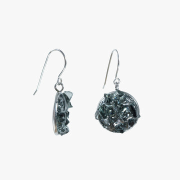 Auto Glass Earring - Dangle Hook Black