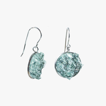 Auto Glass Earring - Dangle Hook Aqua