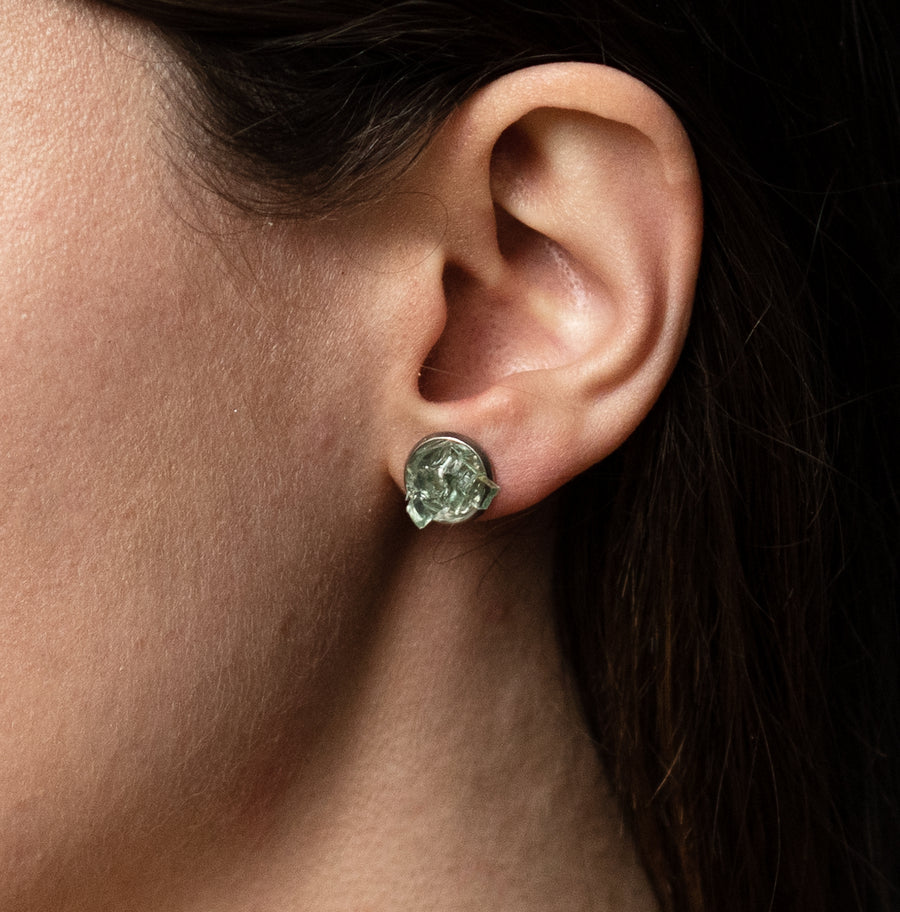 Auto Glass Earring - Cluster Stud