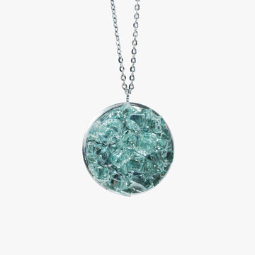 Cluster Necklace - Large Aqua