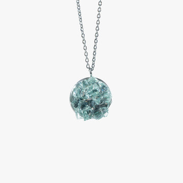 Cluster Necklace - Medium Aqua