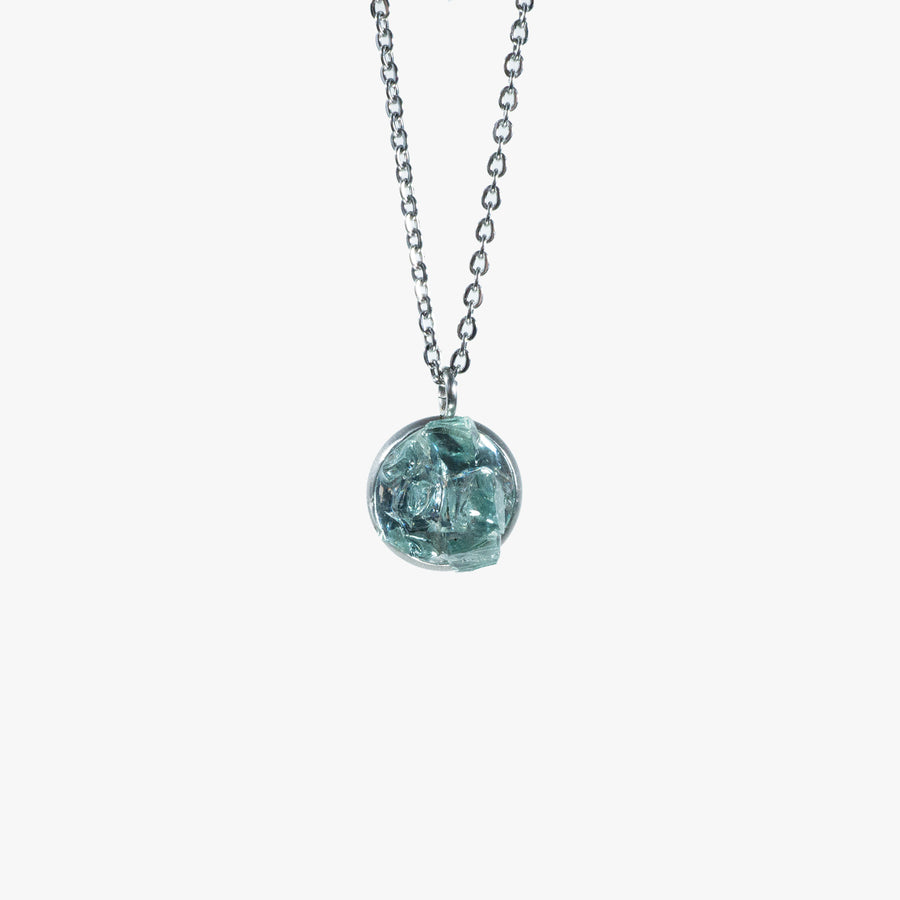 Cluster Necklace - Small Aqua