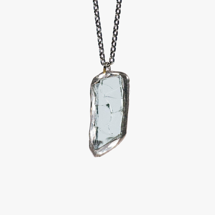 Mini car glass necklace - Geometric