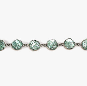 Auto Glass Bracelet - Small Aqua