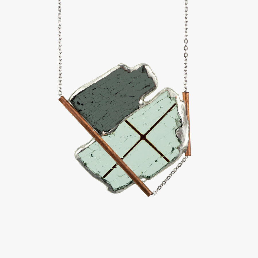 Auto Glass Necklace - Statement No. 026