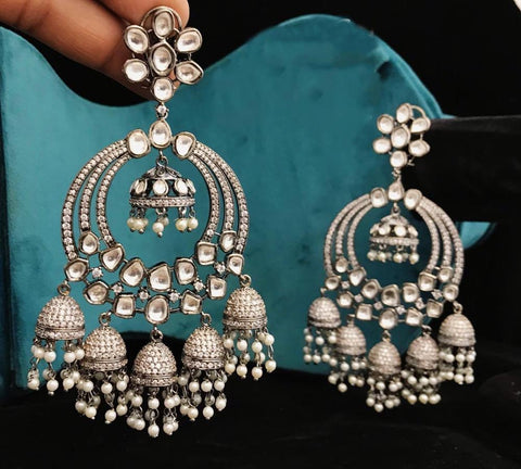 Victorian style Balis with jhumkas