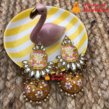 Hand painted chandelier stud Jhumkas (7 Colors)