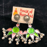 Enamel mirror danglers with studs