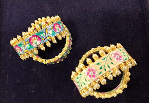 High quality meenakari bangles (4 colors)