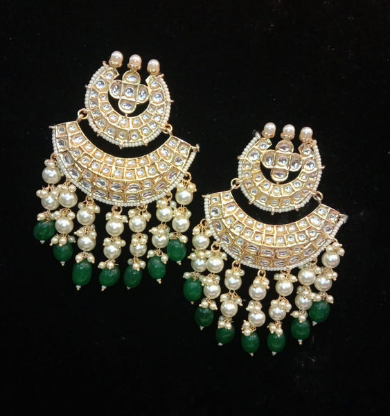 Double Chaand pearl Balis
