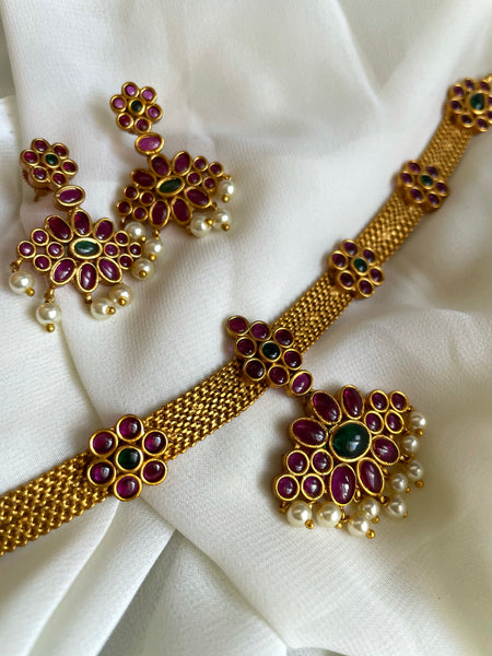 Vintage style kemp attigai with earrings