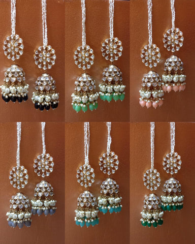 Kundan double layer Jhumkas