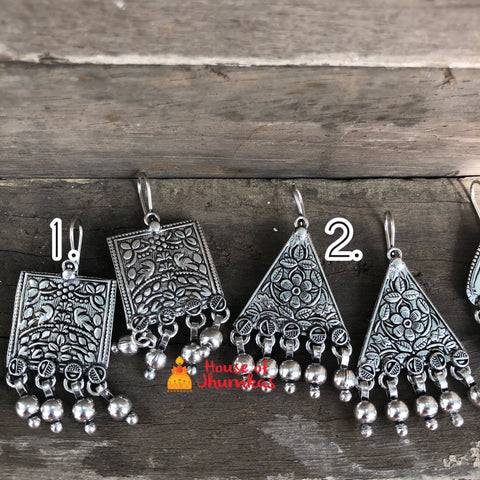 Basic Silver hook earrings (7 designs)