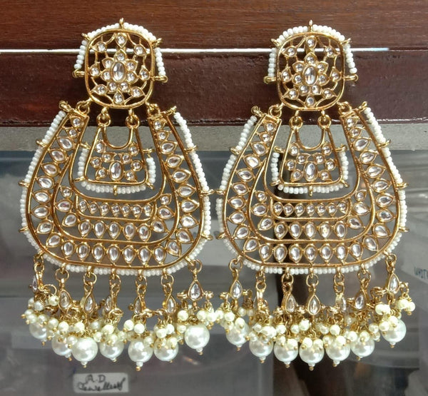 Polki carpet earrings