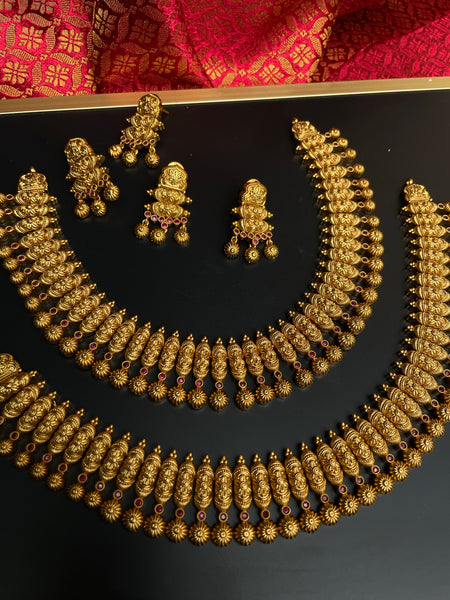 Kerala style mullamottu necklace with studs