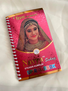 Book of 960 bindis with gold stone work