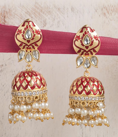 Single color enamel Jhumkas (12 colors)