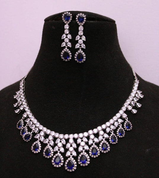American diamond necklace set (3 colors)