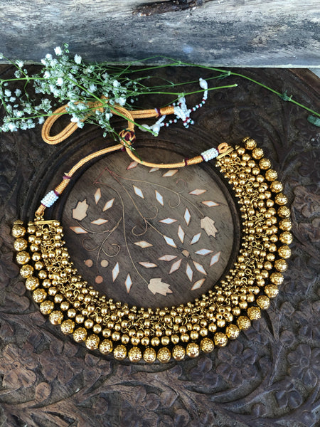 Cluster Gungaroo necklace with jhumkas