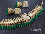 Bridal Polki choker with  Jhumkas (8 color options)