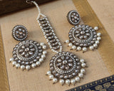 Round Polki earrings set in 8 colors