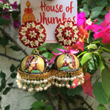 Rani Jhumkas with Hamsa tops